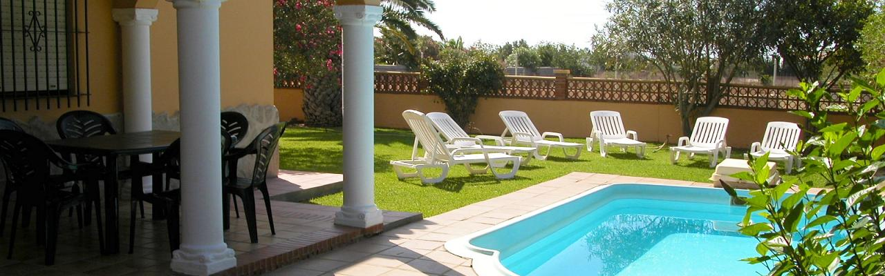 Our incredibly nice villa for 6 persons with private pool and secluded undisturbed garden around it